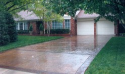 Stained Concrete Driveway in Oklahoma City