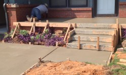 Concrete Porch and Steps Being Formed in Oklahoma City